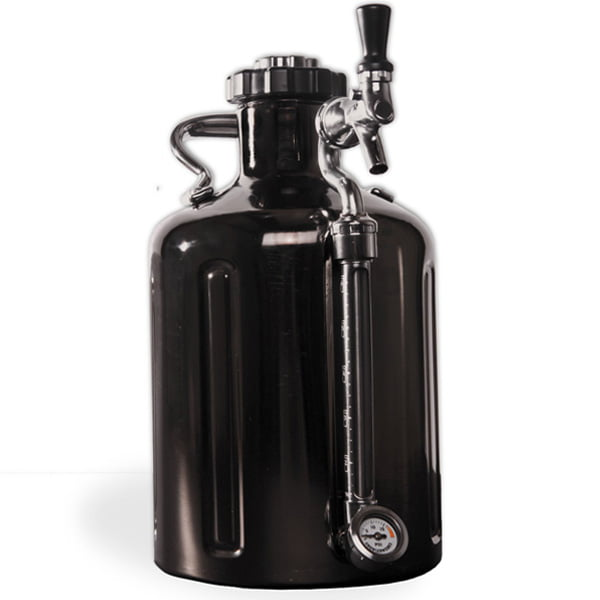 Beer Growler Black Chrome 128